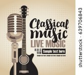 vector banner with an acoustic... | Shutterstock .eps vector #639706843