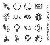 sphere icons set. set of 16... | Shutterstock .eps vector #639712144