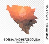 transparent polygon map  ... | Shutterstock .eps vector #639715738