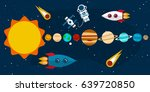 planets of the solar system ... | Shutterstock .eps vector #639720850