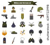 Set Of Military Color Flat...