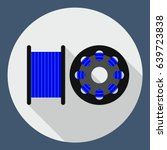 vector flat icon spool for 3d... | Shutterstock .eps vector #639723838