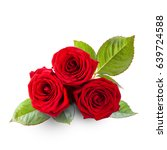 rose flower bouquet isolated on ... | Shutterstock . vector #639724588