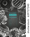 burgers and ingredients for... | Shutterstock .eps vector #639727240