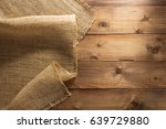 burlap hessian sacking on... | Shutterstock . vector #639729880