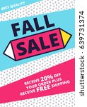 flat design sale website banner ... | Shutterstock .eps vector #639731374