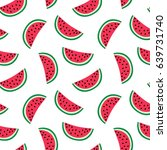 slice of red watermelon on a... | Shutterstock . vector #639731740