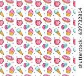 watercolor seamless pattern... | Shutterstock . vector #639732814