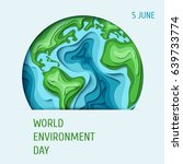 world environment day concept.... | Shutterstock .eps vector #639733774