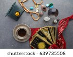 composition of esoteric objects ... | Shutterstock . vector #639735508