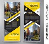 business roll up. standee... | Shutterstock .eps vector #639740380