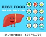 best food for strong liver.... | Shutterstock .eps vector #639741799
