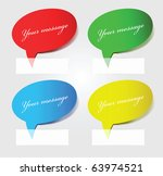 Set of multicolored stickers, illustration - stock vector