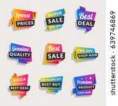 set of sale banners. shopping... | Shutterstock .eps vector #639746869