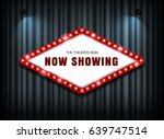 theater sign on curtain with... | Shutterstock .eps vector #639747514