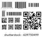 bar code icon qr code symbol... | Shutterstock .eps vector #639750499
