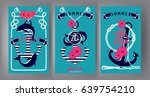 nautical banners with marine... | Shutterstock .eps vector #639754210