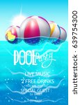 Pool Party Poster With...