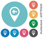 previous target gps map... | Shutterstock .eps vector #639755620