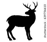deer silhouette   vector... | Shutterstock .eps vector #639756610