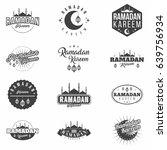 ramadan kareem monochrome... | Shutterstock .eps vector #639756934