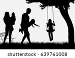 family of silhouettes. | Shutterstock .eps vector #639761008