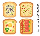 toast party healthy breakfast... | Shutterstock .eps vector #639765088