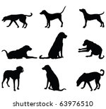Stock photo dog silhouettes 63976510