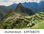 machu picchu green terraces on...   Shutterstock . vector #639768274