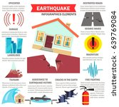 earthquake infographic layout... | Shutterstock .eps vector #639769084