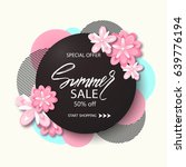 summer sale background banner... | Shutterstock .eps vector #639776194