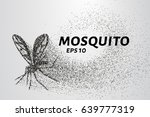 the mosquito of the particles.... | Shutterstock .eps vector #639777319