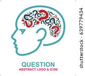 question  abstract logo and... | Shutterstock .eps vector #639779434