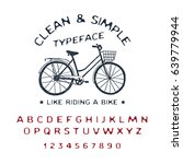 hand drawn clean   simple font. ... | Shutterstock .eps vector #639779944