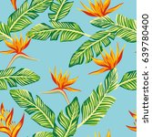 beach cheerful seamless pattern ... | Shutterstock .eps vector #639780400