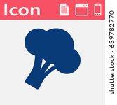 vector broccoli icon. food icon.... | Shutterstock .eps vector #639782770