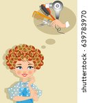 beautiful smiling girl at the... | Shutterstock .eps vector #639783970