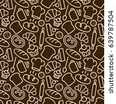 bakery seamless pattern with... | Shutterstock .eps vector #639787504