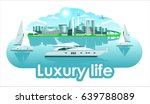 yacht sails boat resort town... | Shutterstock .eps vector #639788089