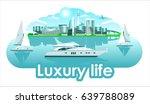 yacht sails boat resort town... | Shutterstock .eps vector #639788089