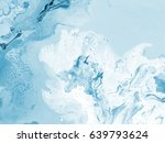 abstract blue hand painted... | Shutterstock . vector #639793624
