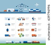 shipping  air transport  trucks ... | Shutterstock .eps vector #639796996