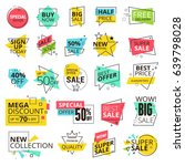 sale labels collection. modern... | Shutterstock .eps vector #639798028