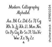 calligraphic vector font.... | Shutterstock .eps vector #639801034
