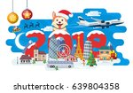 new year and winter travel... | Shutterstock .eps vector #639804358