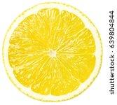 lemon slice  clipping path ... | Shutterstock . vector #639804844
