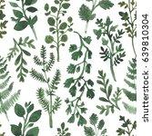 watercolor herbal organic... | Shutterstock . vector #639810304
