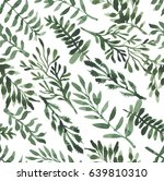 watercolor herbal organic... | Shutterstock . vector #639810310