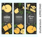 cheese top view  vertical... | Shutterstock .eps vector #639813460