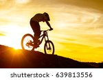 silhouette of cyclist riding... | Shutterstock . vector #639813556